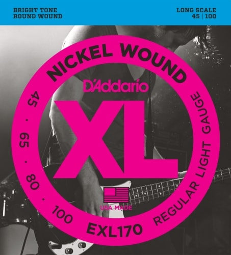 D'Addario EXL170 Nickel Wound Bass Guitar Strings